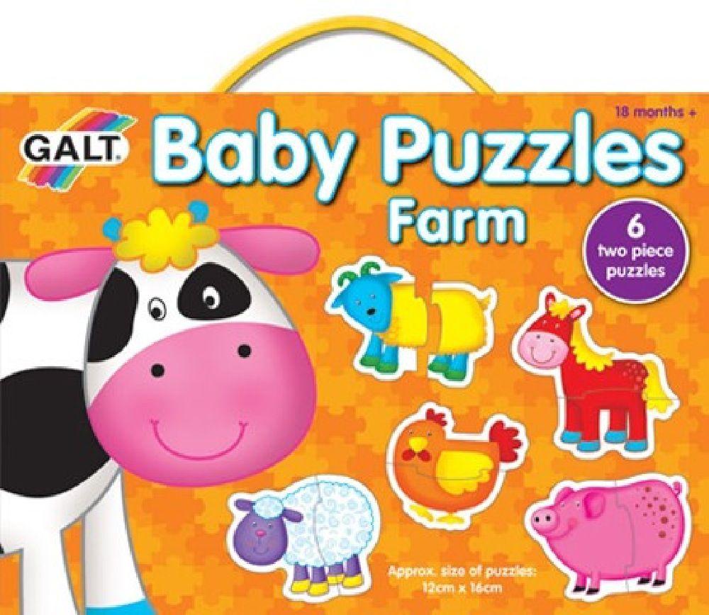 Galt Baby Puzzles farm 2pc