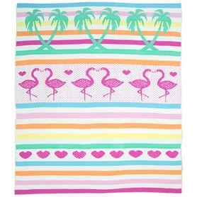 Weegoamigo Knit Blanket Flamingos