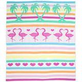 Weegoamigo Knit Blanket Flamingos image 0