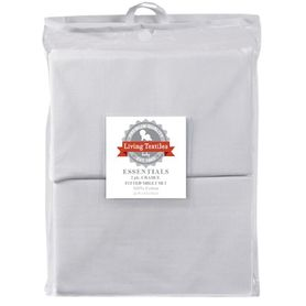 Living Textiles Basic Cradle Fitted Sheet White 2 Pack