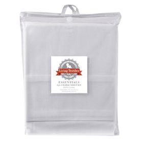 Living Textiles Basic 2 Piece Cradle Sheet Set White