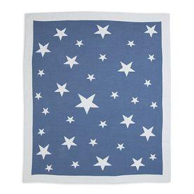 Weegoamigo Cotton Knitted Blanket Stellar Blue / Navy
