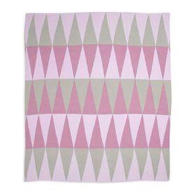 Weegoamigo Cotton Knitted Blanket Carousel Pink