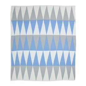 Weegoamigo Cotton Knitted Blanket Carousel Blue