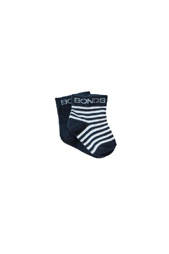 Bonds Classic Bootee Blue 2 Pack image 0