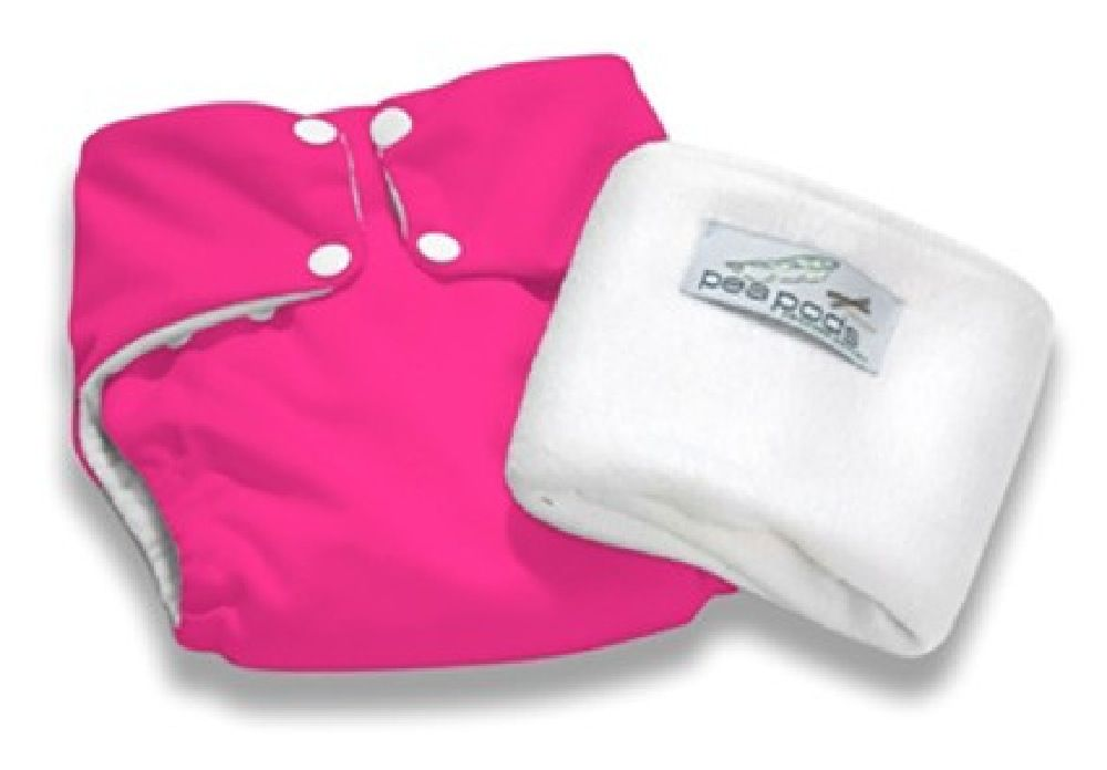 Pea Pods Nappy Onesize Hot Pink