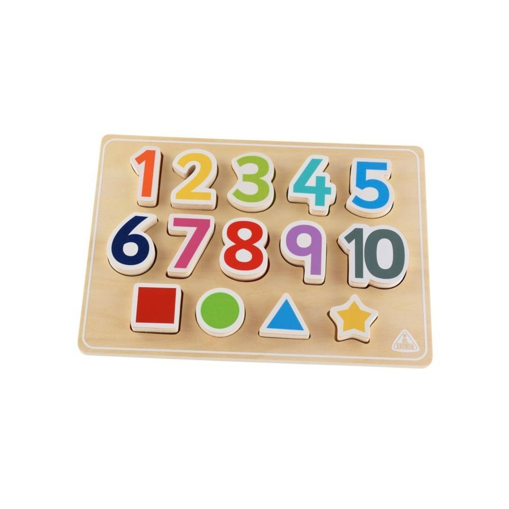 ELC Wooden Puzzle Shape And Numbers