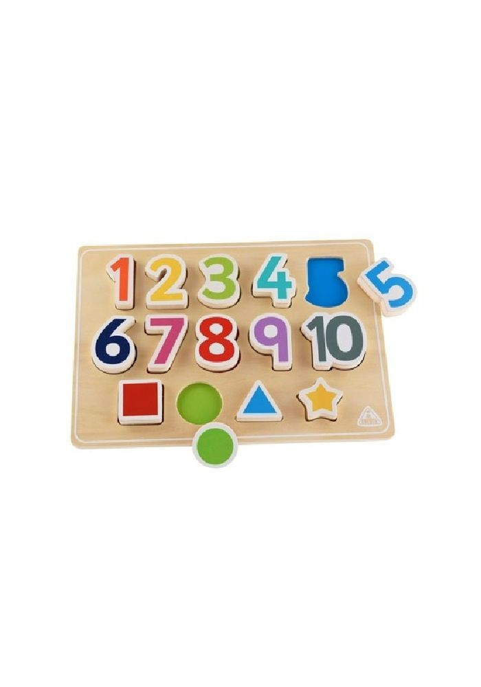ELC Wooden Puzzle Shape And Numbers image 2