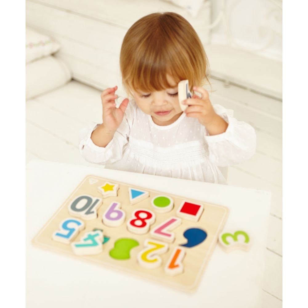 ELC Wooden Puzzle Shape And Numbers image 3