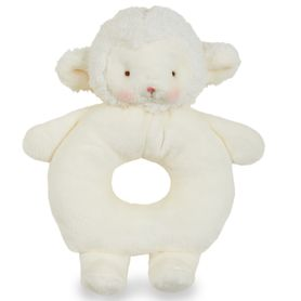 Bunnies By The Bay Ring Rattle - Kiddo Lamb White