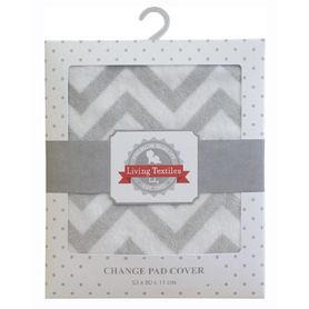 Living Textiles Change Pad Cover Grey Chevron