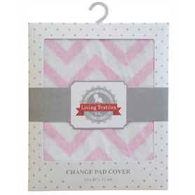 Living Textiles Change Pad Cover Pink Chevron