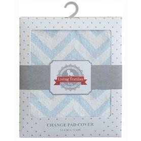 Living Textiles Change Pad Cover Blue Chevron