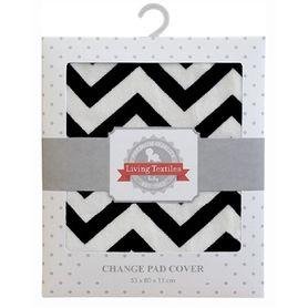 Living Textiles Change Pad Cover Black Chevron