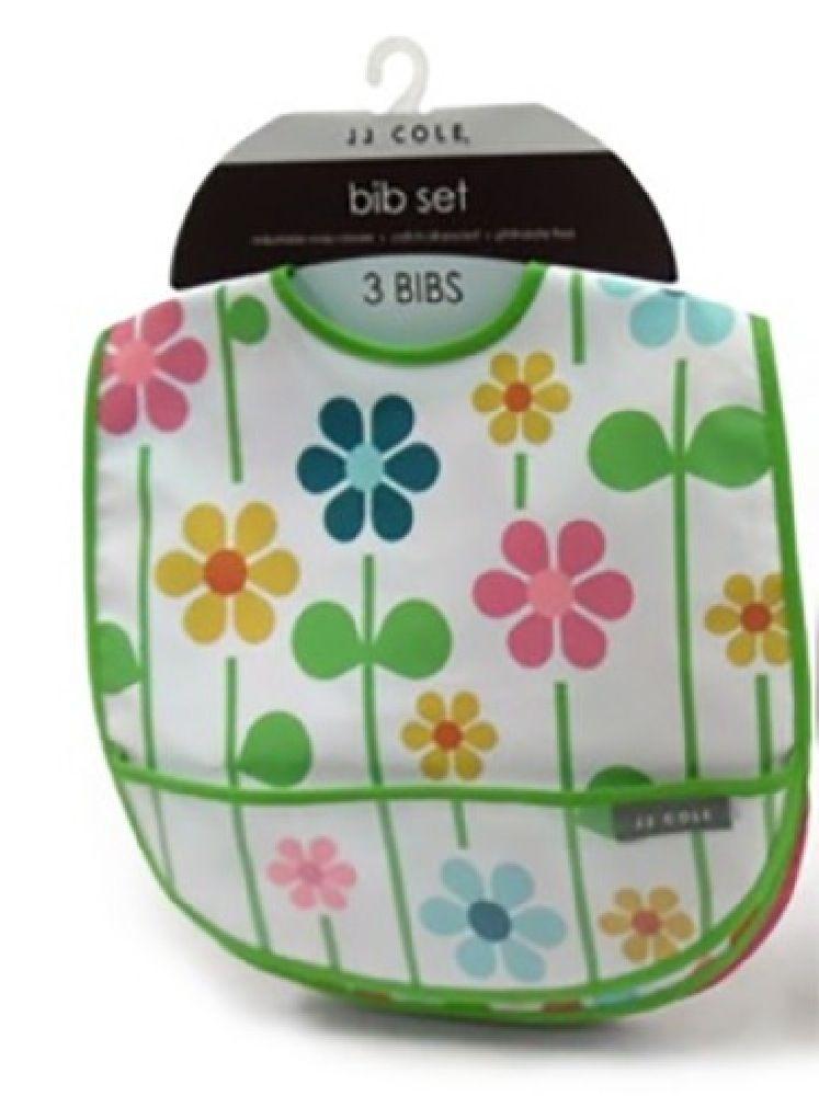 JJ Cole Bib 3Pack Summer Garden