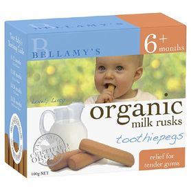 Bellamys Organic Rusk Toothiepegs 100G