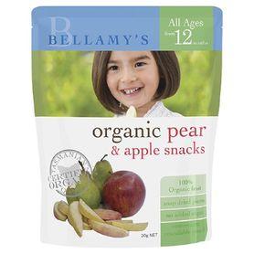 Bellamys Organic Pear / Apple Snacks 20G
