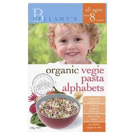 Bellamys Organic Vegie Alphabet Pasta 200G