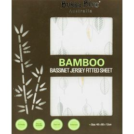 Bubba Blue Bamboo Leaf Jersey Bass Fitted Sheet