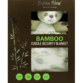 Bubba Blue Bamboo Leaf Security Blanket