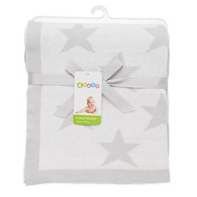 4Baby Knit Blanket Jacquard Star Silver