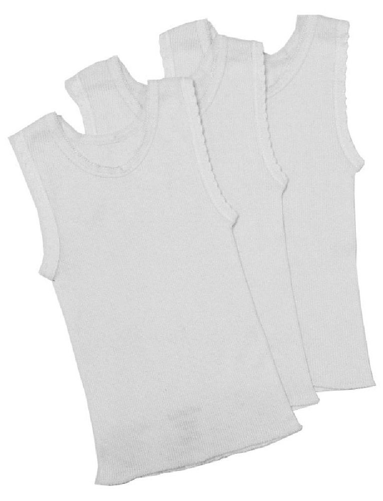 4Baby Cotton Singlet White 3 Pack image 0