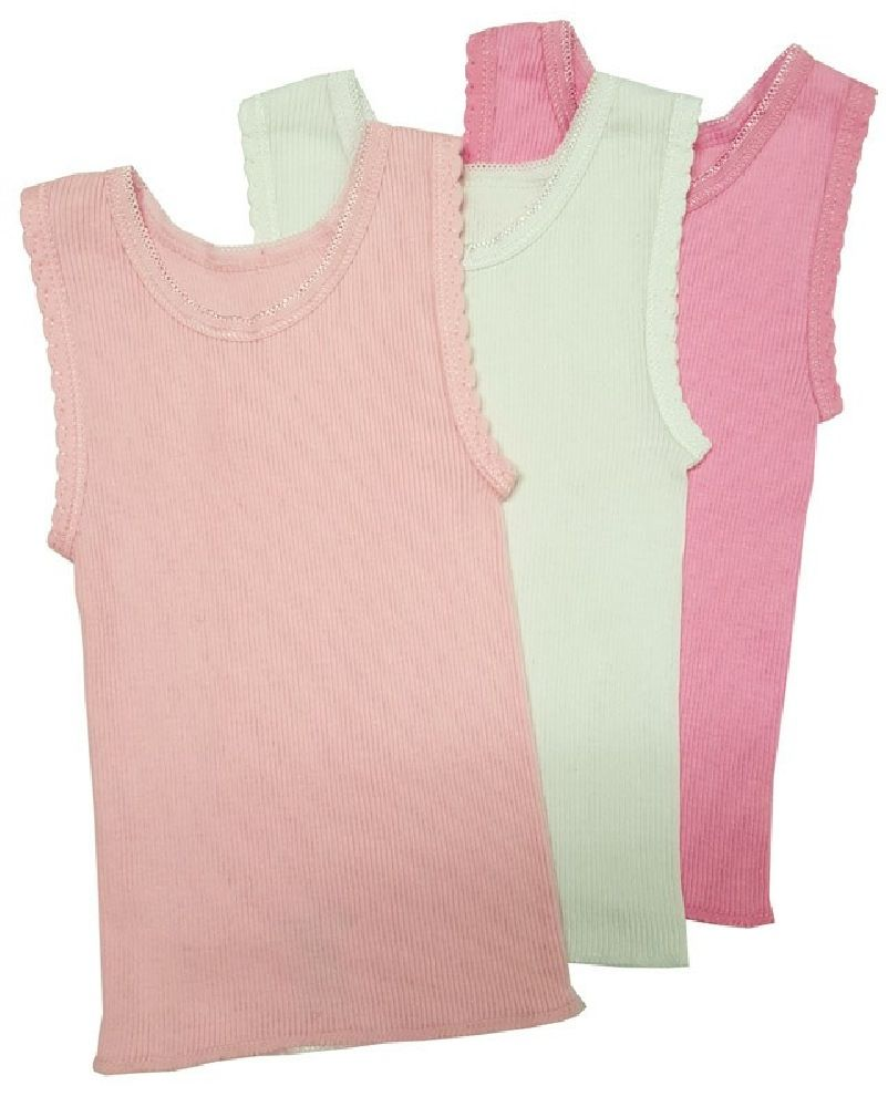 4Baby Cotton Singlet Pink 3 Pack image 0