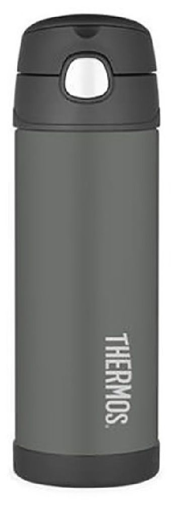 Thermos Funtainer Bottle Insulated Charcoal 470ML image 0