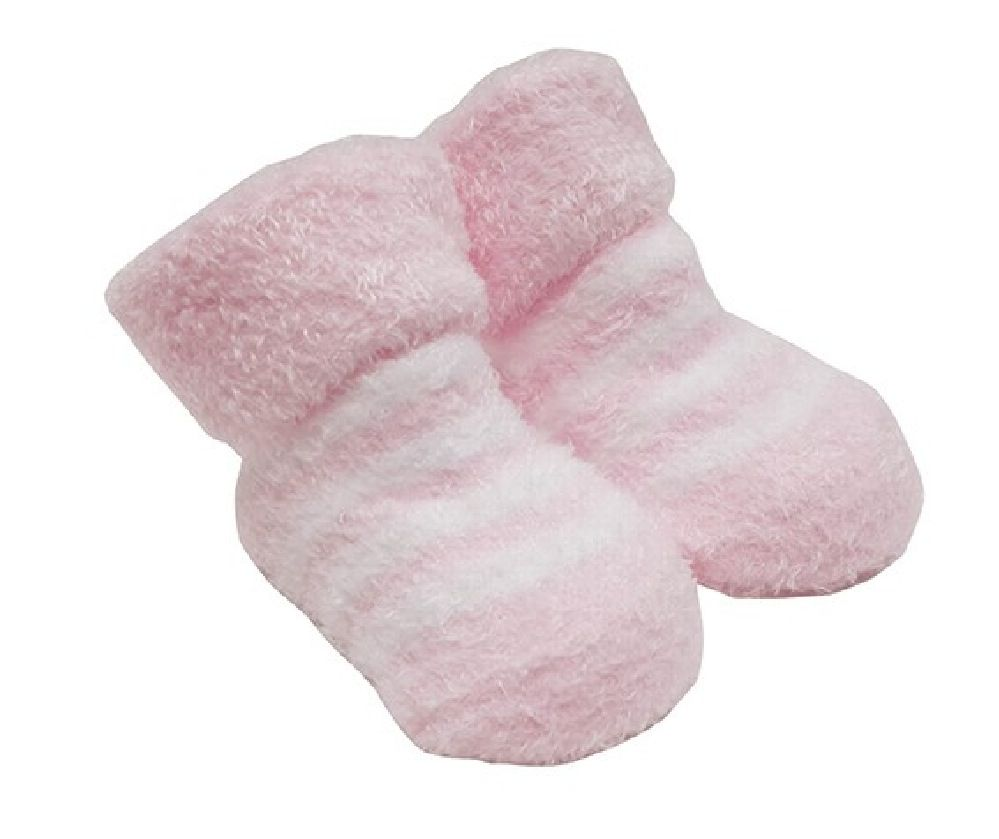 Playette Chenille Bootie Girls Pink 0-3M 2 Pack image 1