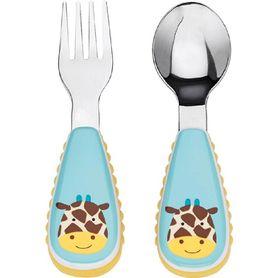 Skip Hop Zoo Fork & Spoon Set Giraffe
