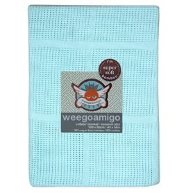 Weegoamigo Bassinet Cellular Blanket Ocean