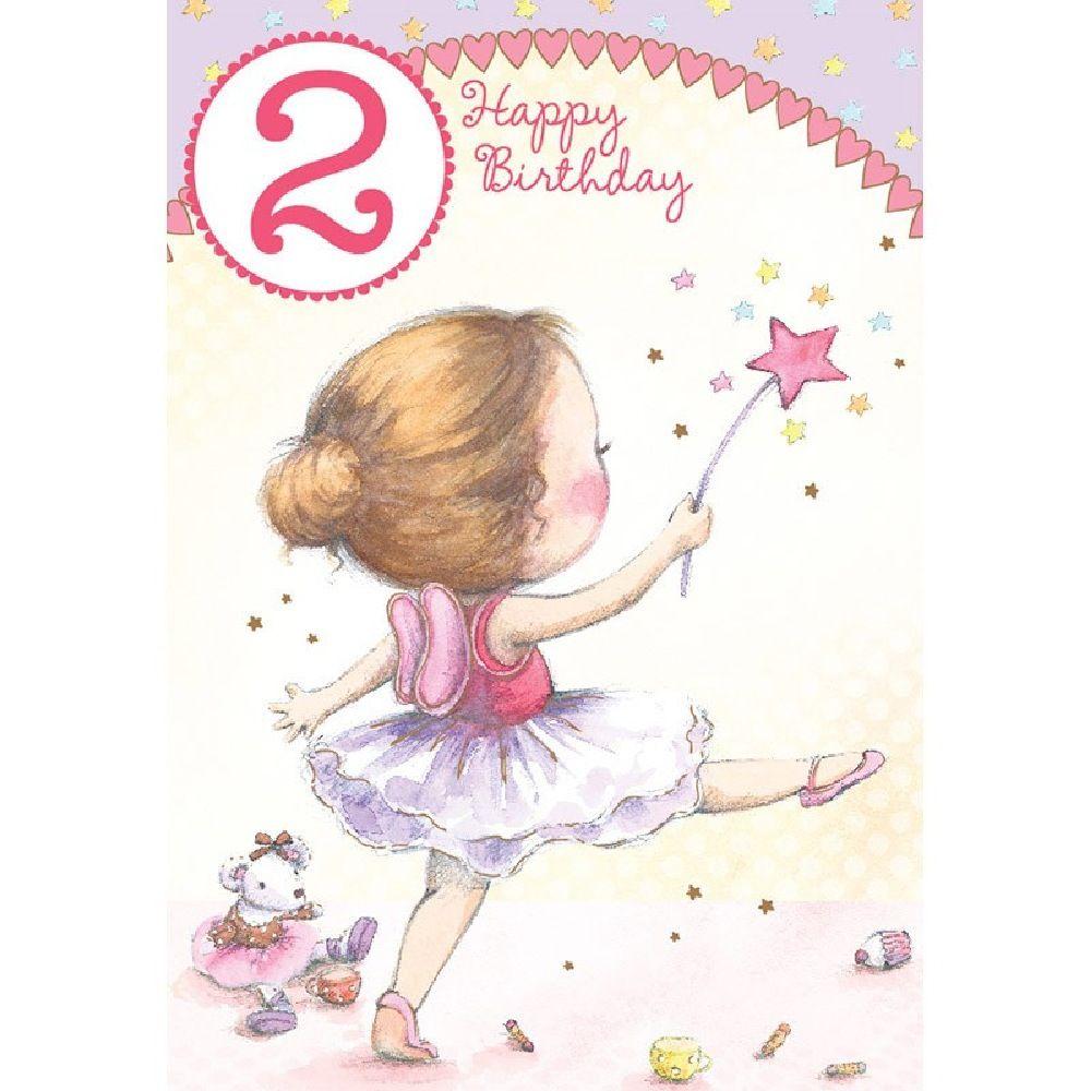 Henderson Greetings Card Age 2 Girl Dress As A Fairy
