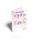 Henderson Greetings Card Baby Girl Baby Pram image 0