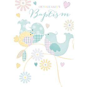 Henderson Greetings Card Baptism Birds On Branch