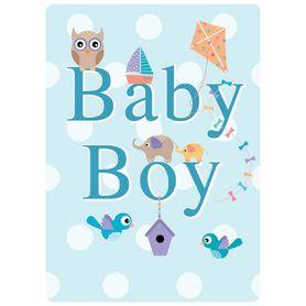 Henderson Greetings Gift Card Baby Boy Kite Birds Owl