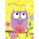Henderson Greetings Gift Card Juvenile Girl Purple Owl image 0