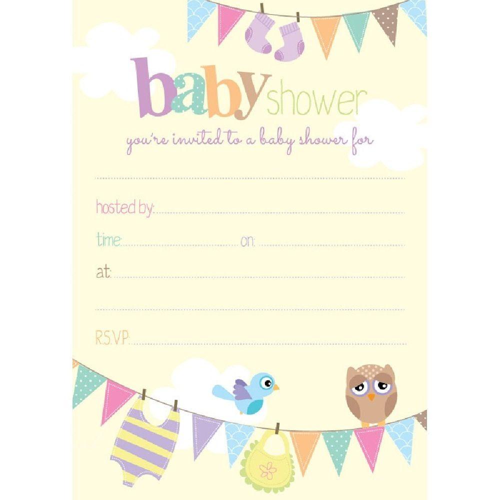 Henderson Greetings Baby Shower Invite Owl