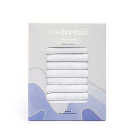 Little Bamboo Mini Muslins Natural 8 Pack.