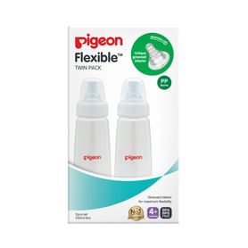 Pigeon Slim Neck PP Bottle with Flexible Peristaltic Teat - 240ml - 2 Pack