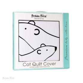 Bubba Blue Polar Bear Cot Quilt Cover With Duvet Inner