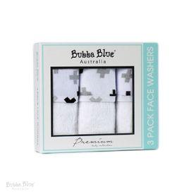 Bubba Blue Polar Bear Face Washer 3 Pack