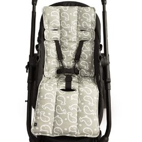 Outlook Cotton Pram Liner Charcoal Whales