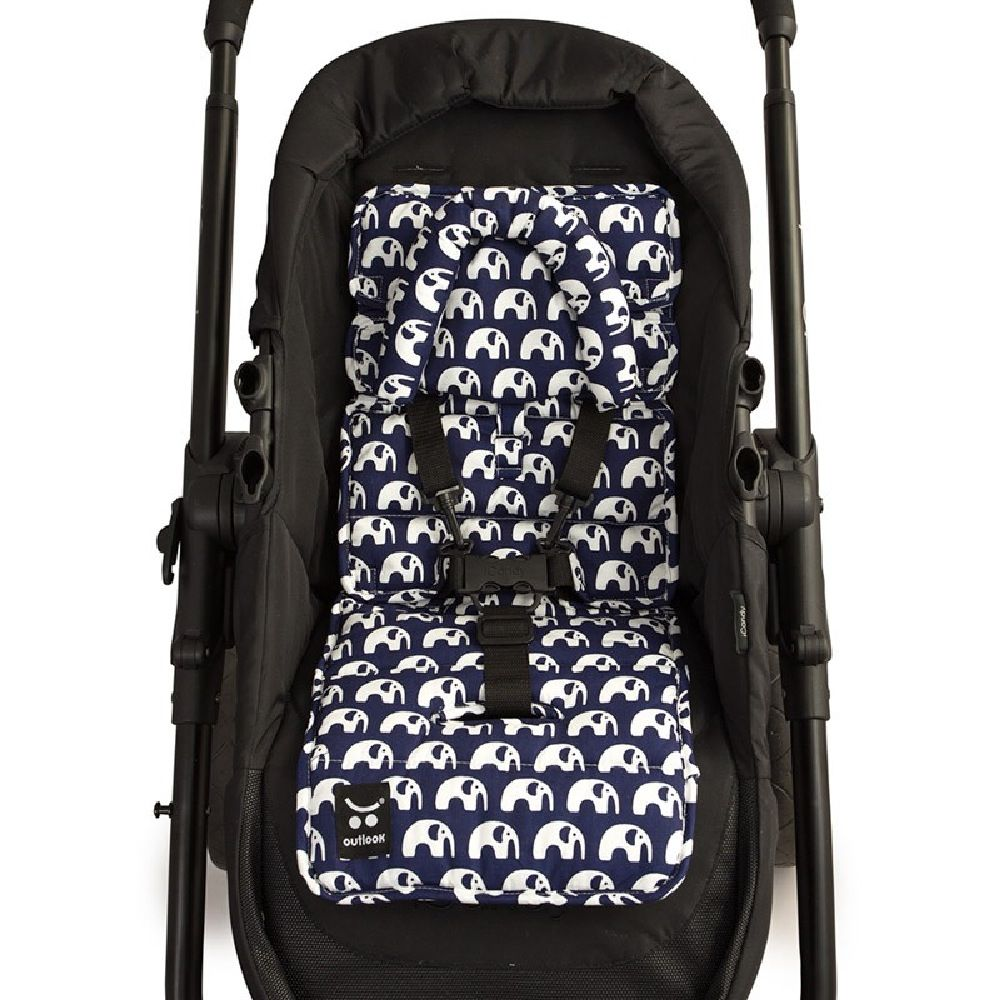 Outlook Mini Liner With Head Support Navy Elephant image 1