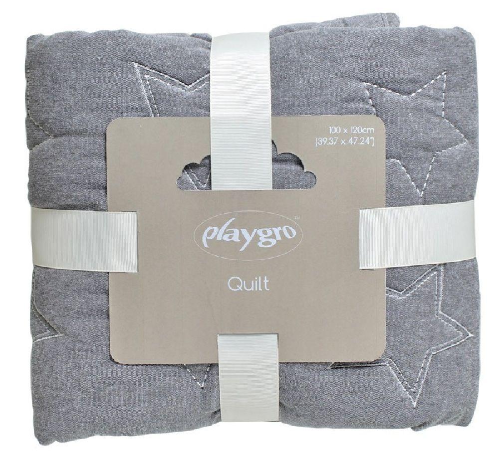 Playgro Quilt Star Grey image 2