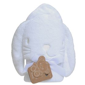 Playgro Hooded Towel Bunny White
