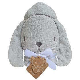 Playgro Hooded Towel Bunny Grey