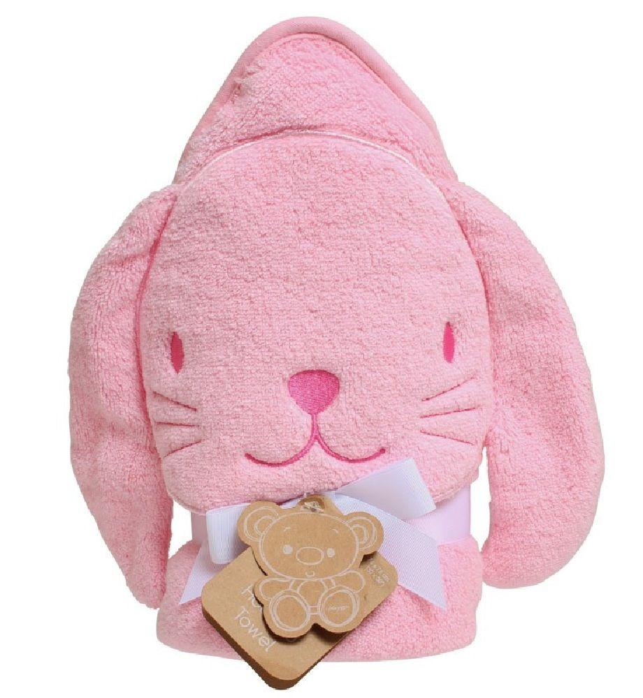 Playgro Hooded Towel Bunny Pink