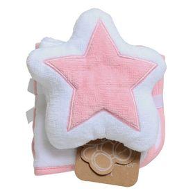 Playgro Star Mit & Wash Cloths Pink/White