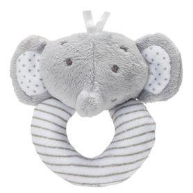 Playgro Rattle Elephant Grey/White