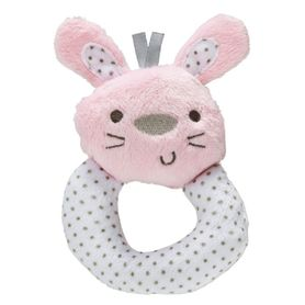 Playgro Rattle Bunny Pink/White